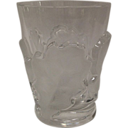 Stunning Lalique Chene Double Old Fashion Tumbler