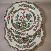 Two Coalport Indian Tree Scalloped Salad Plates