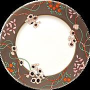 "Fitz & Floyd ""Fleurs Platinees""   10"" Dinner Plate"