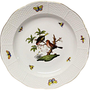 Herend Rothschild Bird Dinner Plate  #1518