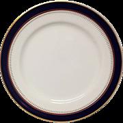 "Fitz & Floyd "" Starburst Cobalt Inglaze""   10"" Dinner Plate"