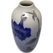 Royal Copenhagen Blue Gray Floral Bud Vase