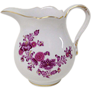 Vintage Meissen Purple Floral Miniature Creamer