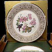 Lenox Boehm Bird Collector Series American Redstart Plate