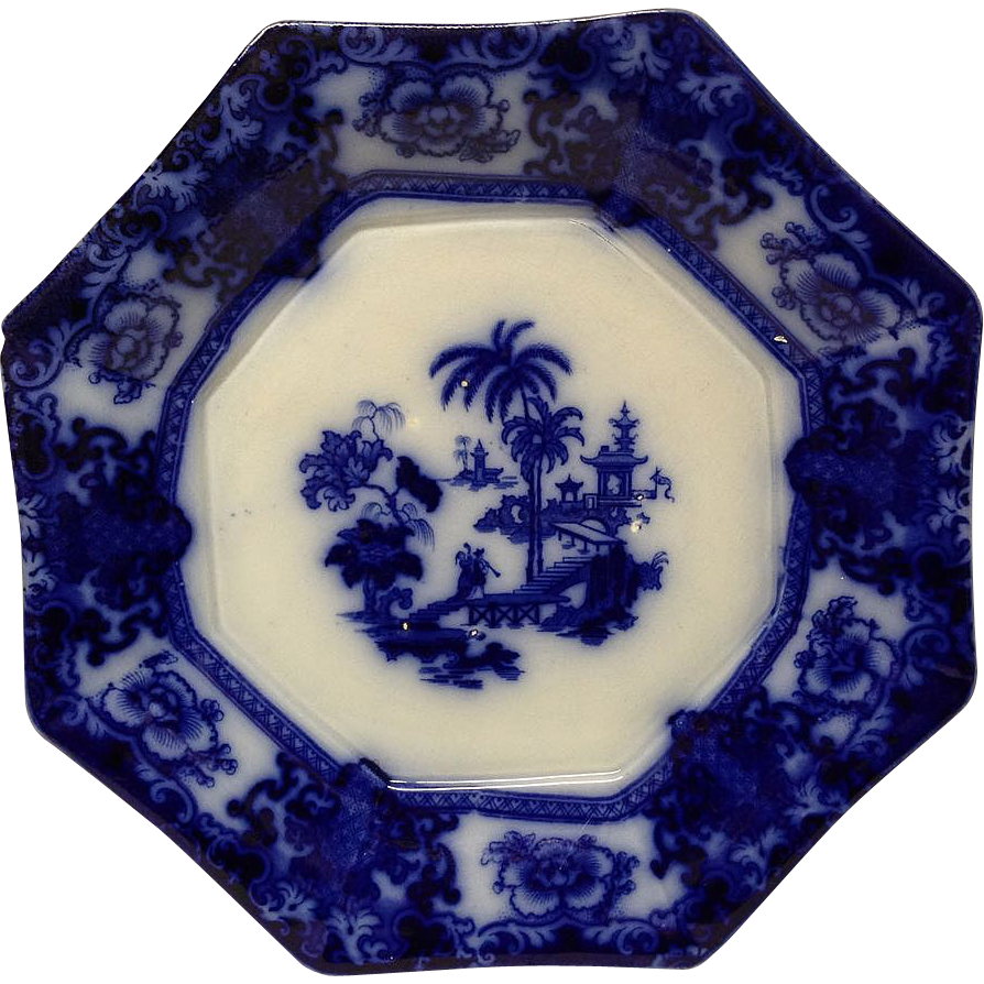 T.R. Boote Stunning SHAPOO Flow Blue Chop Plate