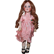 S.F.B.J. 301, 17 inch girl doll in original outfit/HH wig/Orig Body finish