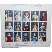 Doll Stamps from 1996 commemorating antique dolls