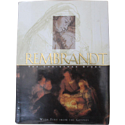 """Small hard covered book entitled """"REMBRANDT"""" The Christmas Story"""""""