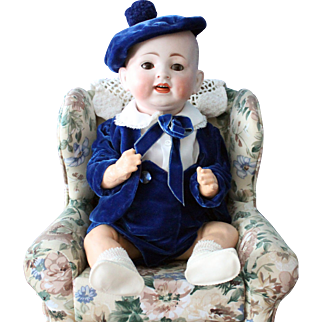 """German antique baby doll- Hertel & Schwab - marked """"Made in Germany - 151"""" -15 inches"""