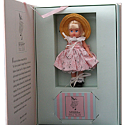 Madame Alexander miniature Doll Club doll in original box, unplayed with