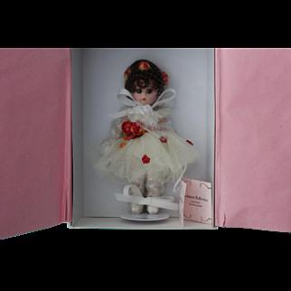 Madame Alexander, all porcelain, 5+ inch Autumn Ballerina doll, mint in box