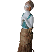 Porcelain lady brush, 1920' Flapper style