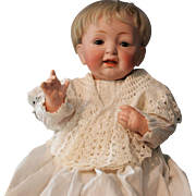 """Kestner """"character baby"""" #211, 13 inches - mint bisque and body/antique clothing"""