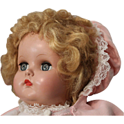 "Madame Alexander Baby Genius - 15"" - HP head/vinyl arms and legs/original clothing-Excellent"