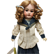German Antique child doll, Sonnenberg, 14 inches, factory original costume