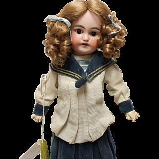 German Antique child doll, Sonnenberg, 14 inches, factory original costume