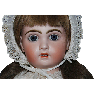 "Jumeau Size '10"" antique doll, 24 "", with open mouth, original body, excellent bisque"