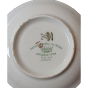 China dessert plates, suitable for antique doll measures approximately 4 inches, made in Austria-antique dishes