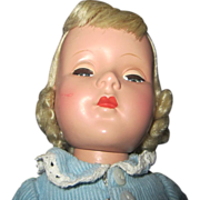 "Early Amercian Character Sweet sue blonde doll beauty 14"" tall 1950's"