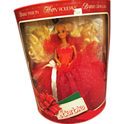 1988 Holiday Barbie doll MIB pretty first in series Christmas doll