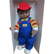 1980's Playskool African American/ Black My Buddy Doll In Original Box - MINT