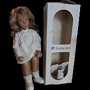"Sasha Honey Blonde hair doll silk dress 101 vintage 16"" England doll all original"