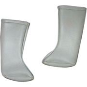 Sasha Doll White Vinyl leatherette GO-GO boots so vintage 1960's original pair