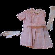 Sasha Doll classic light pink dress, shoes outfit original 1979 item #202