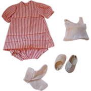 Sasha Clothing Summer Dress stripes with vest socks, shoes #215 1977-1979 Vintage