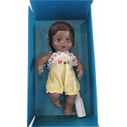 HORSMAN Vintage Lively Baby Softskin black doll in original box