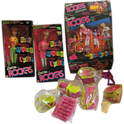 1980's Barbie and The Rockers Group 2 Dolls and rock band set Diva and Barbie