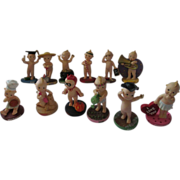 12 months KEWPIE porcelain figurines dressed for each month adorable set!