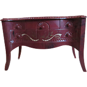 Renwal table cabinet with design on top dancers dollhouse