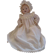 """Horsman Baby Dimples Reproduction doll 1985 Anniversary Baby doll 20"""" Christening gown"""