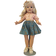 "RARE IDEAL Toni Platinum blonde 19""  doll and all original tagged dress"