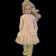 "Antique Floradora doll Armand Marseille 15"" kid body MArked"