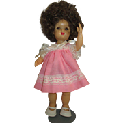 "Tiny Terri Lee doll 1950 10.5"" with WILD HAIR vintage doll"