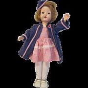 "Candy Striper Nurse vintage doll 1940's hard plastic Made in U.S.A.; 14"" all original"