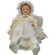 """Effanbee Lovums doll 19"""" composition Pat pending. old baby doll"""