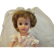 """1950's Little Miss Revlon Circle P clone doll 10"""" BRIDE nice and pretty"""