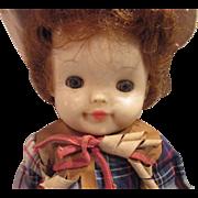 Effanbee Fluffy Cowgirl doll with gun belt all original