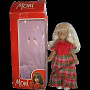 "Mint in box MONI doll by Uranium Sasha doll clone miniature blonde girl 8"""