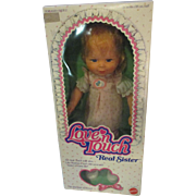 "Vintage 1980 Mattel 15"" Love'n  Touch Real Sister Baby Doll/ Box Never Played With"