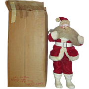 1963 Velvet Suit Harold GALE Santa Claus doll figurine in original box Wonderful Vintage  mache face