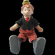 """Schoenhut BOOB MCNUTT Comic character doll 1915-1935 wooden original RARE 9"""""""