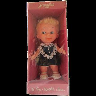 "Vintage unopened 1971 Fun World Huggles doll 6"" cute face side eyes  6"""