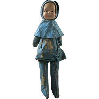 Bunny Rabbit  National Doll Company Natural Doll company doll all original compo oil cloth