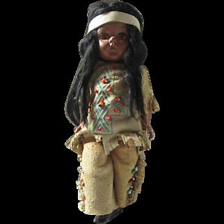 "Vintage 8"" Hard plastic strung Pam Virga dolls Native American  Ginny era"