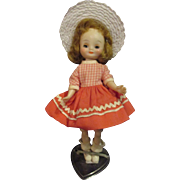 "1950's Tiny Betsy McCall original doll 8"" adorable American Character"