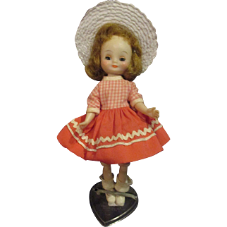 """1950's Tiny Betsy McCall original doll 8"""" adorable American Character"""
